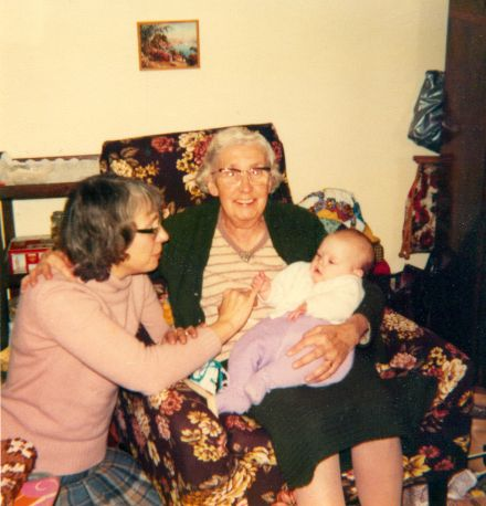 Boak (the baby...) and her great granny, a few years back.