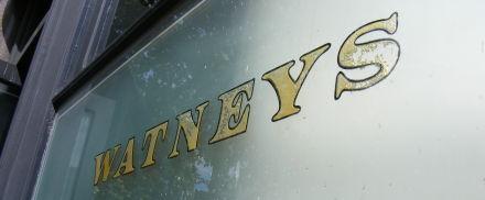 Watney's pub window, Islington