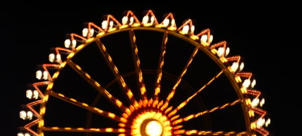 A ferris wheel at a beer festival in Bavaria
