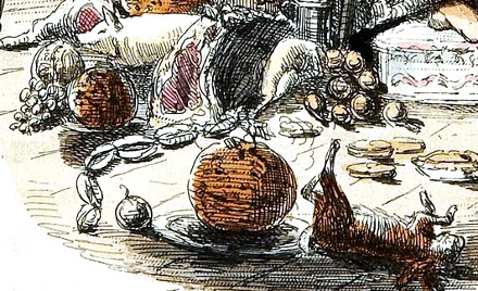 Detail from John Leech's 1843 illustration for a Christmas Carol.