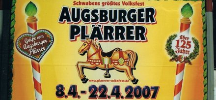 Augsburger Plaerrer billboard from 2007