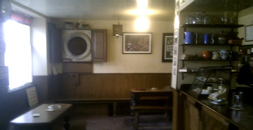 Interior of the Valiant Soldier pub.