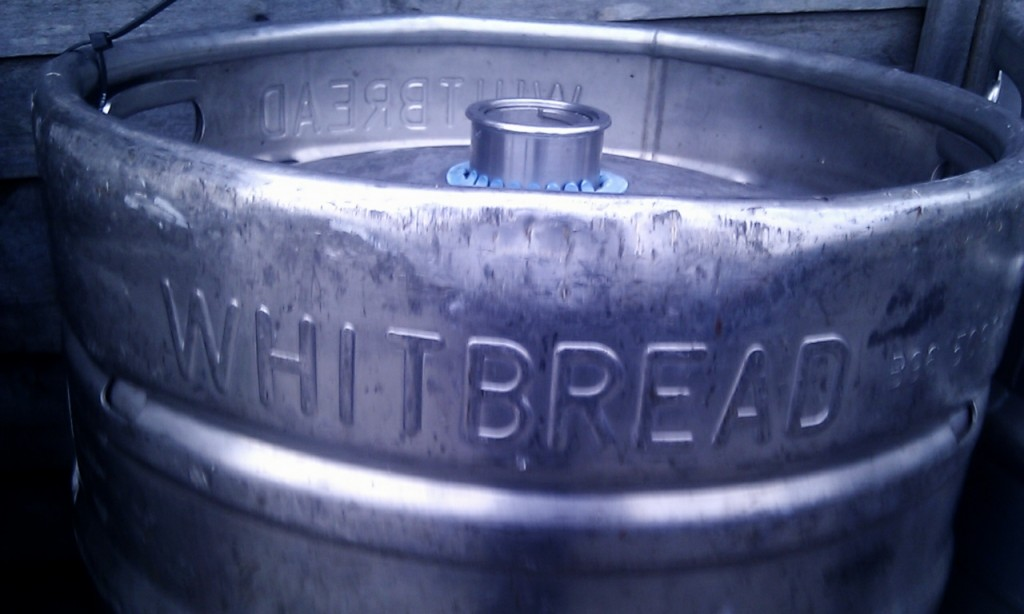 Whitbread beer keg.