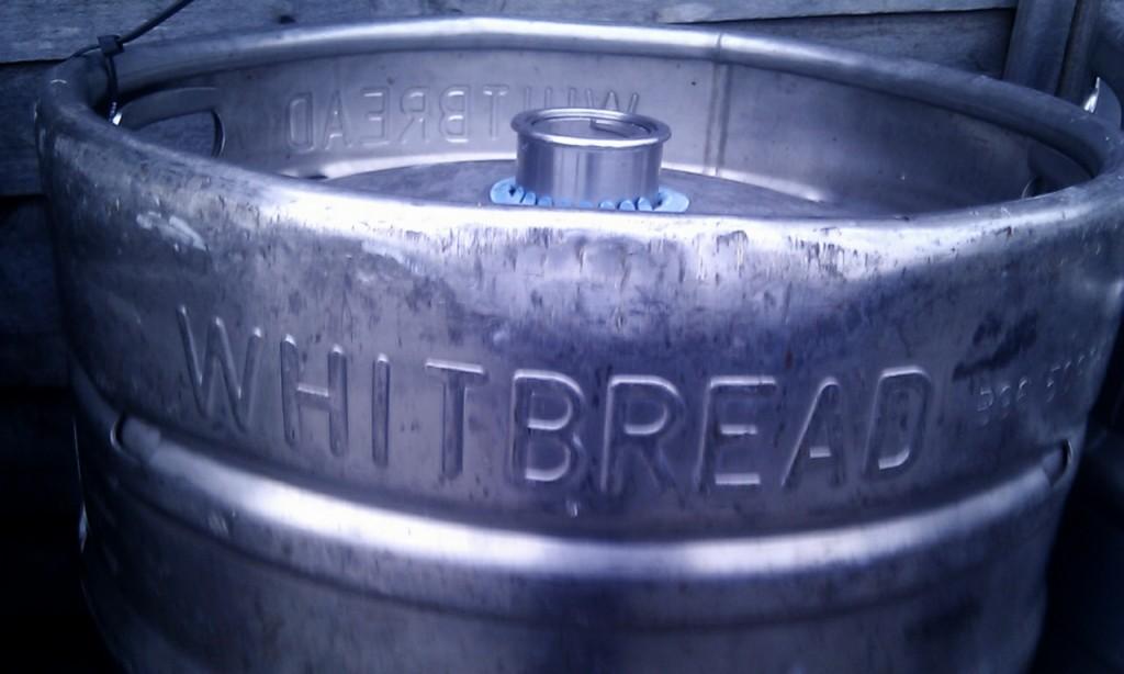 Whitbread beer keg.