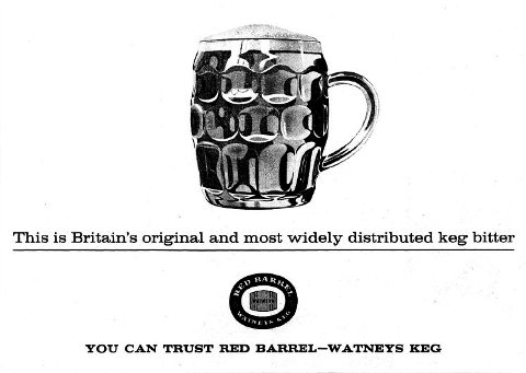 Watney's Keg advertisement from 1962.