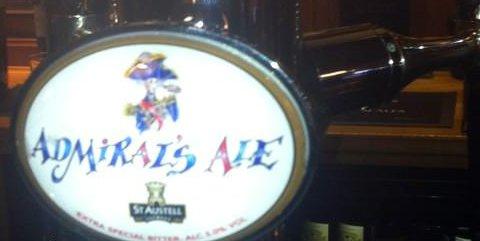 Admiral's Ale keg font.