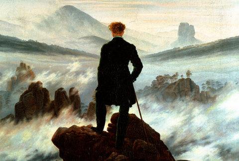 Wanderer above the Sea of Fog by Caspar David Friedrich.