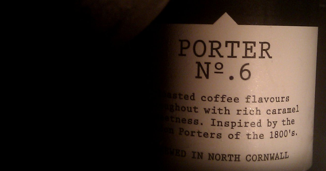 Beer bottle: Harbour Porter No 6