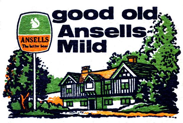 Ansell's Mild beer mat (detail)