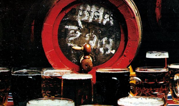 Detail from the cover of Beers of Britain (1975).