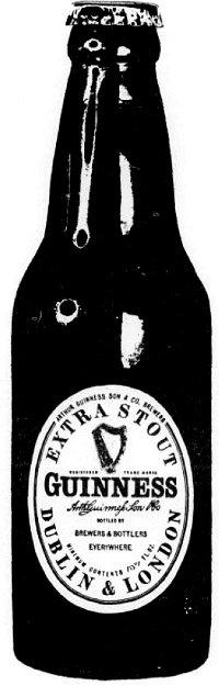 Bottled Guinness stout.