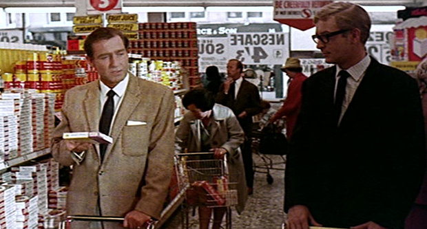 Harry Palmer in the supermarket.