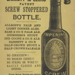 Advertisement for Barrett & Elers beer bottles, 1882.