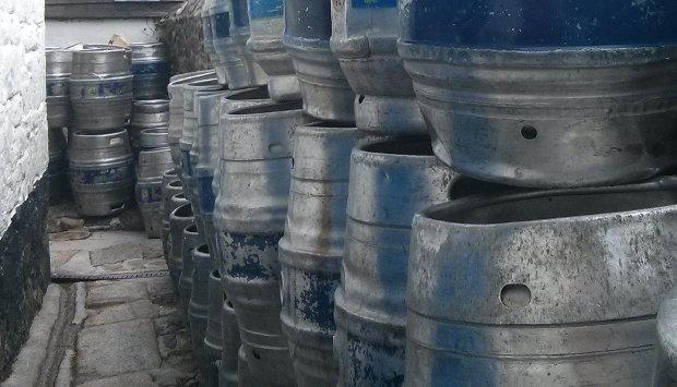 Blue Anchor beer casks.