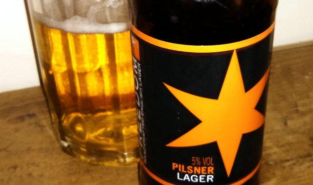 Freedom Pilsner, a British lager.