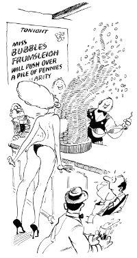 Bill Tidy cartoon, Good Beer Guide 1985.