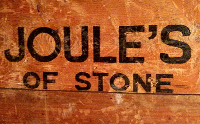 Joule's of Stone beer crate.
