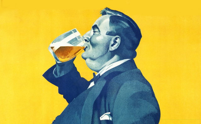 Detail from a 1929 German beer advertisement.