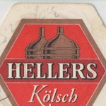 Detail from a Hellers Kölsch beer mat c.2007.