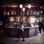 The Black Friar, City of London, bar area.