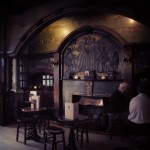 The Black Friar, City of London, metalwork fireplace.