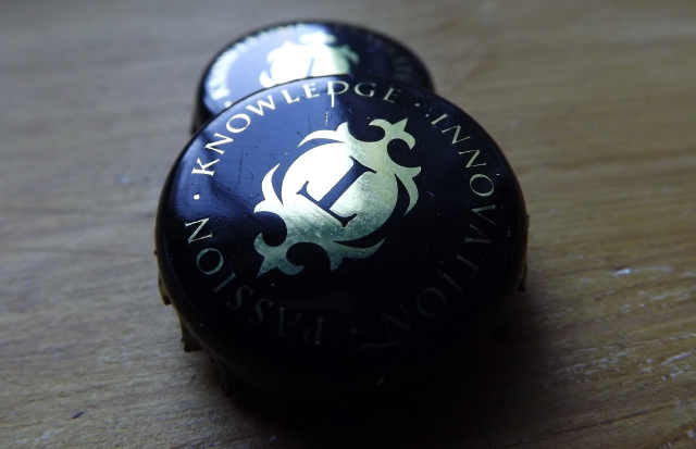 Thornbridge beer bottle caps.