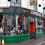 Think Finn Mcoul's might be an Irish pub. Always very busy and, like many Falmouth pubs, allows you to bring your own food.