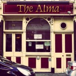 The Alma, Chapel Street, Islington. Apparently an old-fashioned market traders' pub in an otherwise extremely gentrified area. Busy on a Friday afternoon, too.