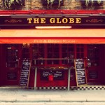 The Globe, Covent Garden. Union Flags, fish'n'chips... they probably sell plastic red buses and police helmets from behind the bar.