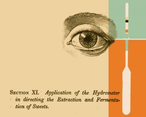 Illustration: home brewing hydrometer.