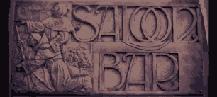 Saloon bar sign (detail) by Teninchwheels.