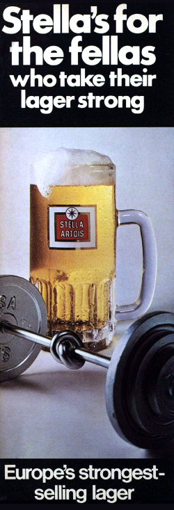 Stella Artois advert, 1970s.