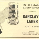 1937 advertisement for Barclay Perkins lager.