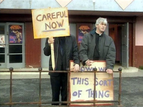 Father Ted: careful now.
