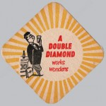 Double Diamond beer mat, 1956.