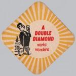 Double Diamond beer mat, 1956.