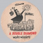 Double Diamond beermat, c.1956.