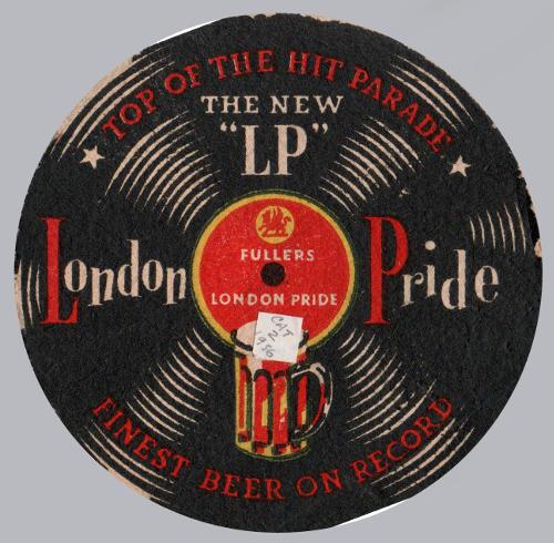 Fuller's vinyl-record beer mat, 1956.