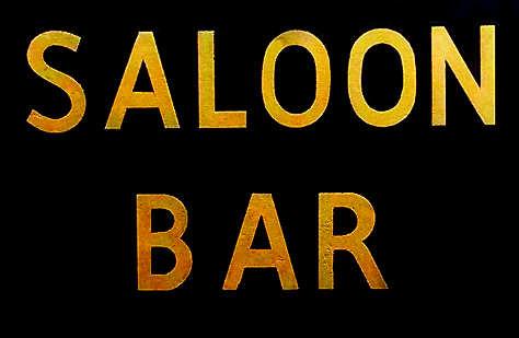 Saloon Bar sign.