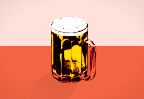 Pint of beer illustration.