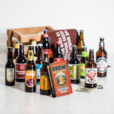 Mixed case of Brew Britannia beers from Beer Hawk.