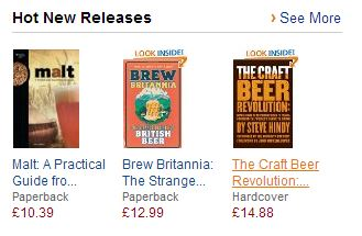 Screenshot: Amazon 'hot new releases'.