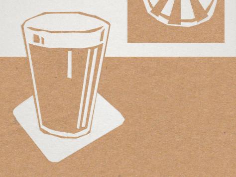 Illustration: pint in a pub.