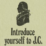 A cut-out silhouette portrait of John Courage, who took over the Anchor Brewery in 1787, from a c.1970s beer mat.