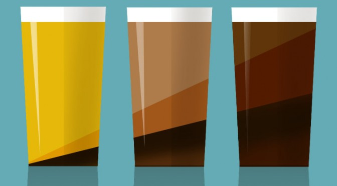 Beer mixes illustration