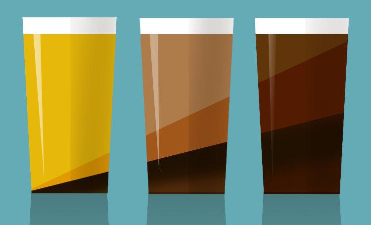 Beer mixes illustration