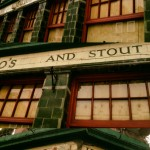 """Taylor Walker Ales & Stout"" -- the legendary Hope & Anchor, Camden, North London."