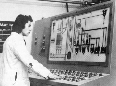 Boddington's computer controlled brewery, c.1978.