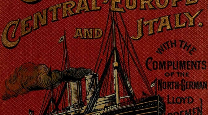 Cover detail from a Guide Through Central Europe, 1896.