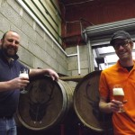 Andrew Cooper (left) and Brett Ellis of the Wild Beer Company in the summer of 2013. (Our photo.)